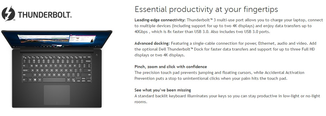 updated) XPS 9350/9550's Thunderbolt 3 may be hardwired at