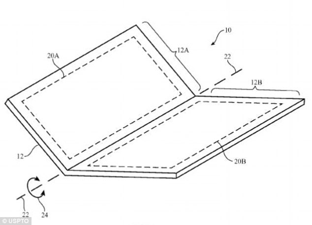 apple applies for foldable phone patent