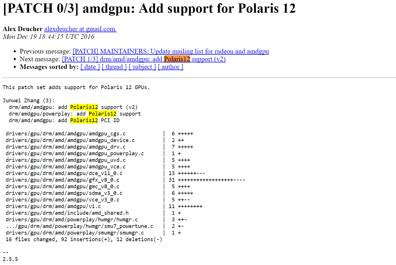 AMD Polaris 12 references spotted in latest Linux drivers