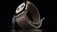 The new Apple Watch being presented at the Gather Round event. (Source: TrustedReviews)