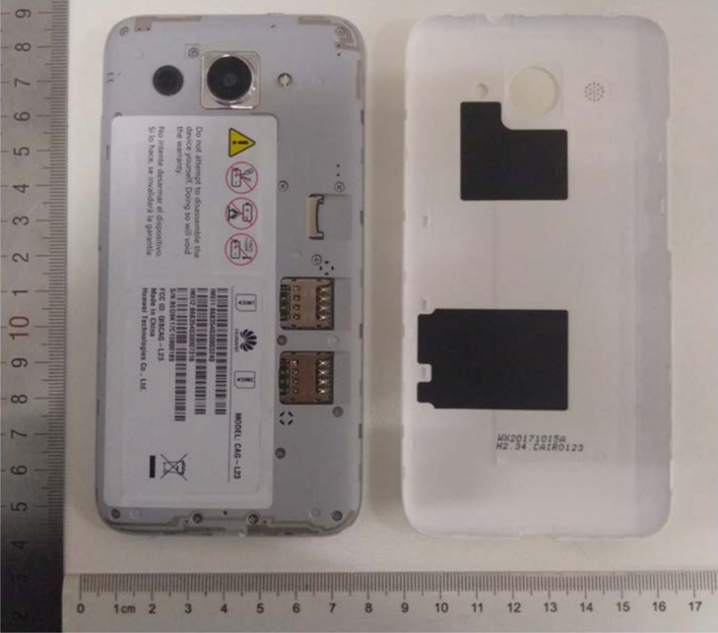 Huawei Y5 Lite (2018) with Android Go onboard surfaces
