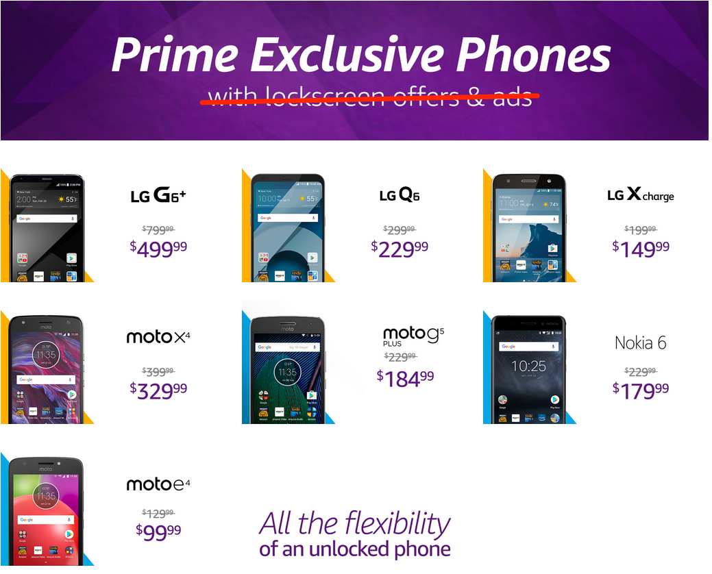 Amazon is removing ads from the lock screen on Prime Exclusive phones
