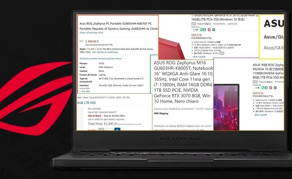 Fresh Asus ROG Zephyrus M16 retailer leaks reveal prices and specs for more variants of the 16-inch 16:10 laptop - NotebookCheck.net News