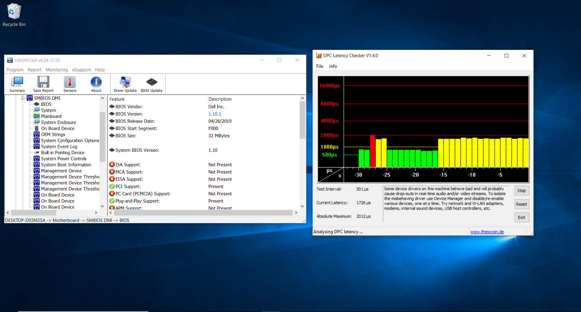 Dell has not eliminated the DPC latency issues that have