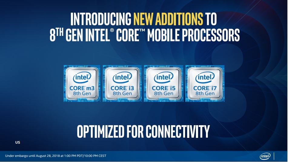 Intel's 8th Gen Core U-series, Y-series processors are here