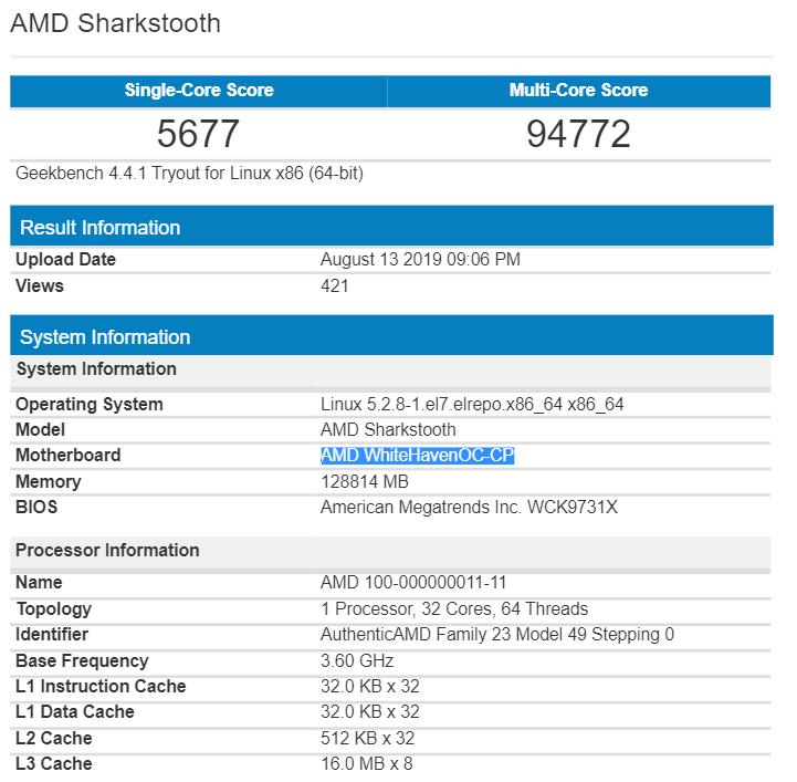 AMD Ryzen Threadripper Zen 2 scores over 2x the Ryzen 9