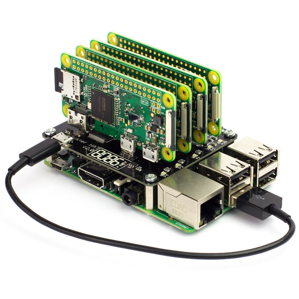 Raspberry Pi: Combine a Raspberry Pi with up to 4 Raspberry Pi Zeros
