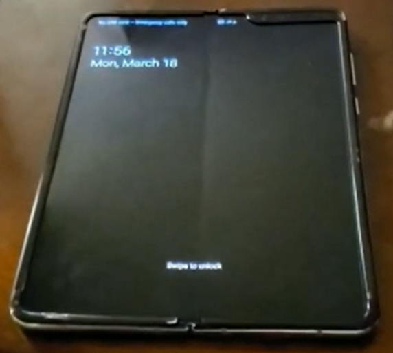 Samsung Galaxy Fold. (Source: YouTube/phoneoftime)