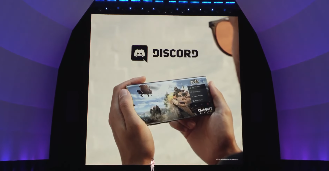 Discord integration on the Samsung Galaxy Note 10 series is