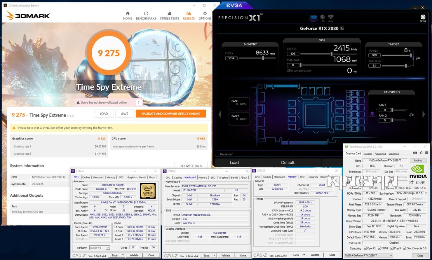 Nvidia RTX 2080 Ti overclocked to 2 4 GHz on LN2, ends Titan V