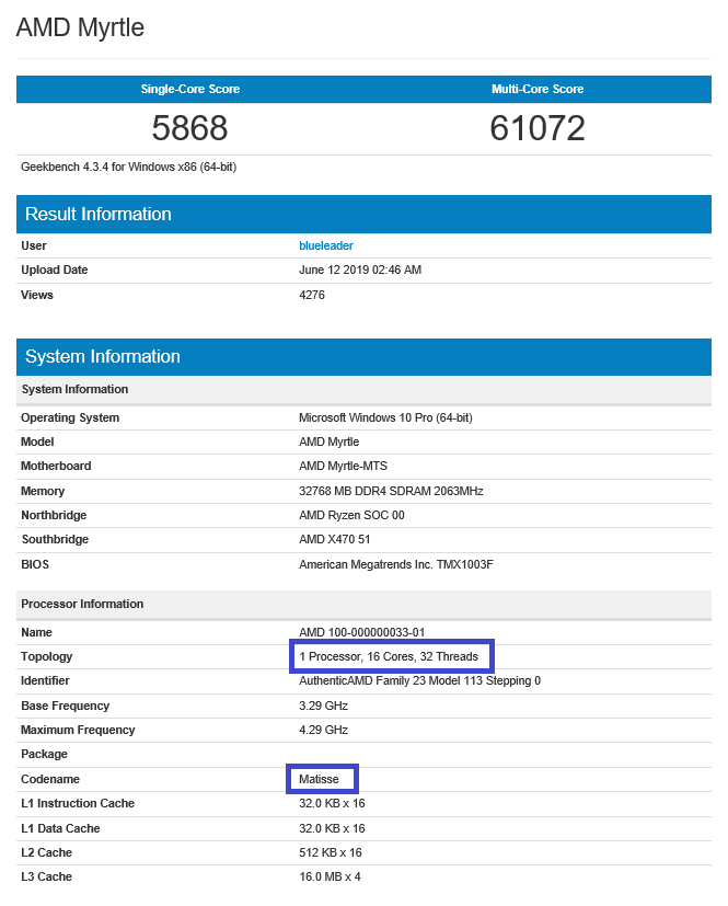 Geekbench entry. (Image source: Geekbench)