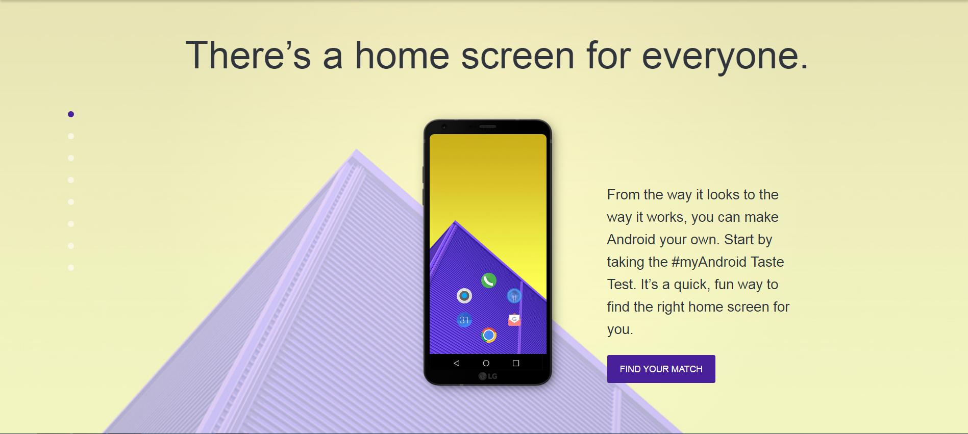 google launches taste test home screen theme generator news. Black Bedroom Furniture Sets. Home Design Ideas