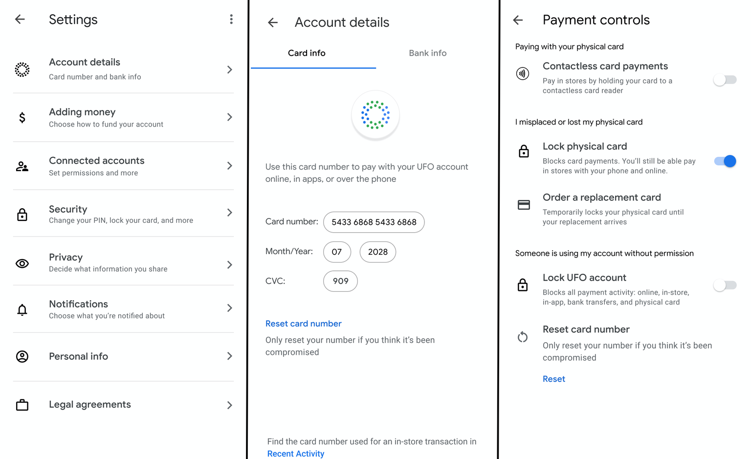 The Google Card app also reportedly offers privacy controls. (Source: TechCrunch)