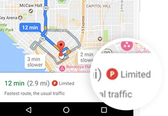Google Maps Now Shows Parking Difficulty Icon For 25 Us Metro Areas