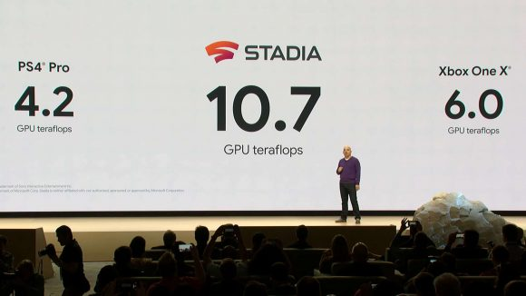 Google Stadia out-teraflops the PS4 and Xbox One X. (Source: PCGamesN)
