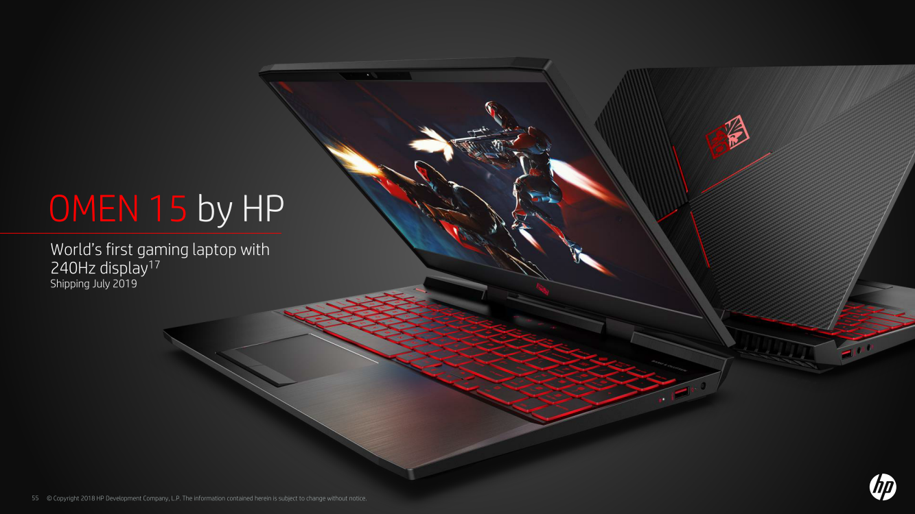 2019 HP Omen 15 comes with 802.11ax wireless and a 240 Hz ...