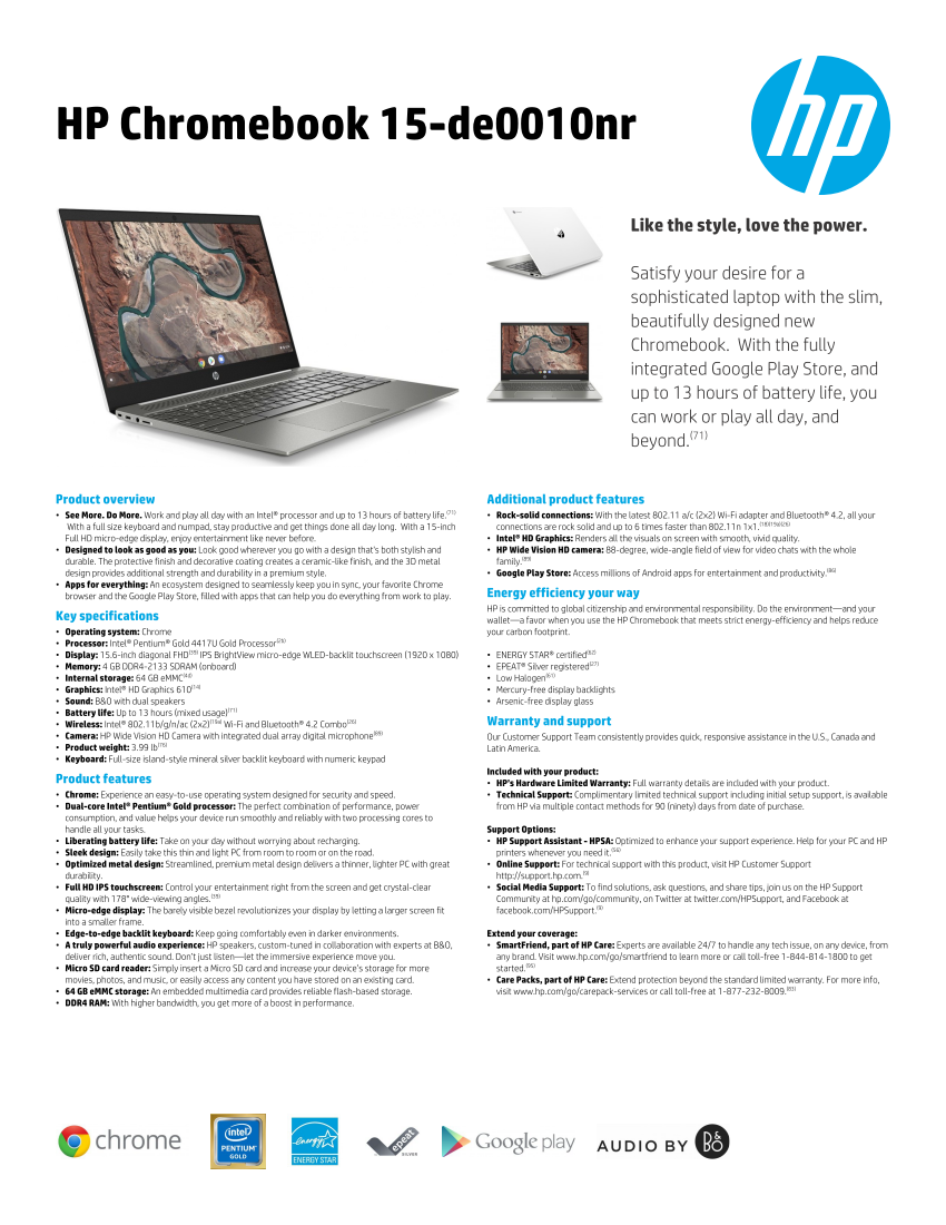 HP Chromebook 15 now available for $449 with Intel Pentium and Core