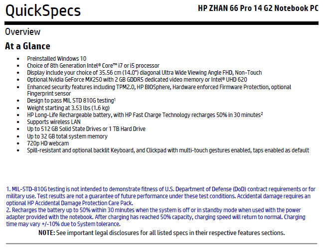 NVIDIA GeForce MX250 spotted in leaked HP ZHAN 66 Pro 14 G2