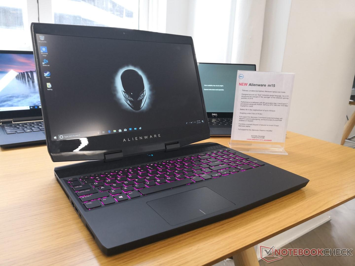 better late than never  u2014 alienware m15 launching this month with narrow bezels and gtx 1070 max