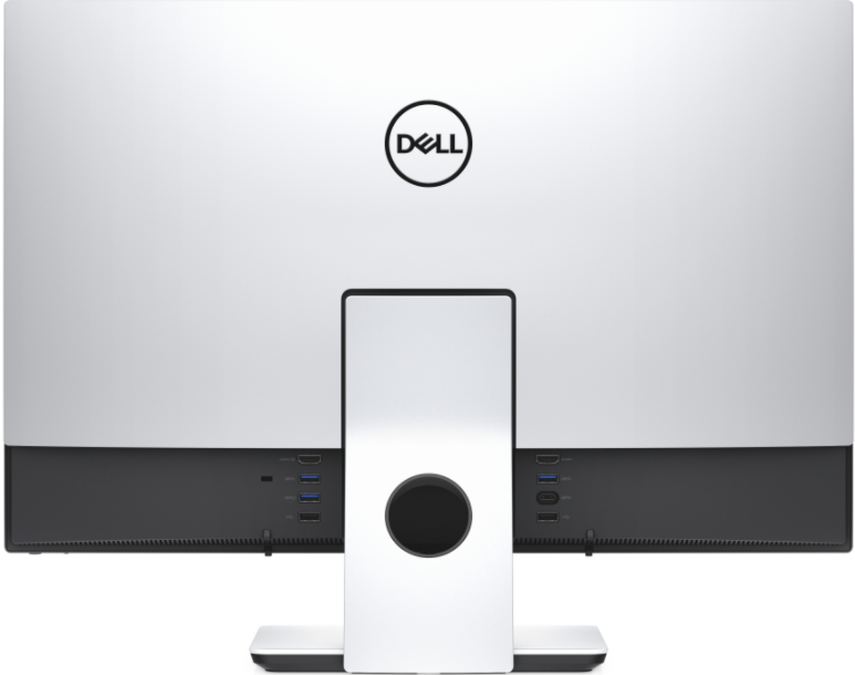 the inspiron 24 has an hdmi out allowing it to connect to a second display