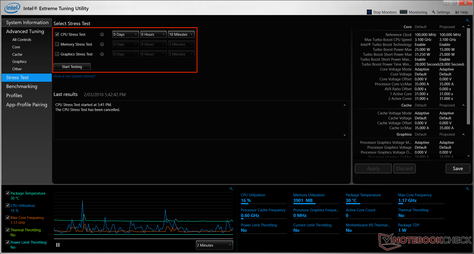 Intel Extreme Tuning Utility (XTU) Undervolting Guide