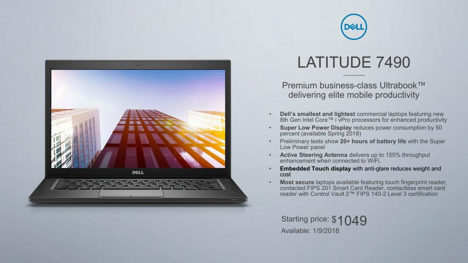 Dell Latitude 7490 Coming With Active Steering Wifi And
