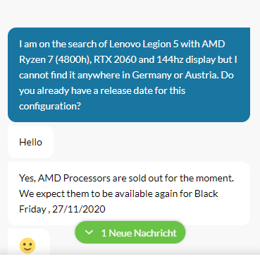 Lenovo Legion 5 Powered By Amd Ryzen 7 4800h And Nvidia Rtx 2060 Will Be Available On Black Friday In Germany After Company Manages To Get Sales Ban Lifted Notebookcheck Net News