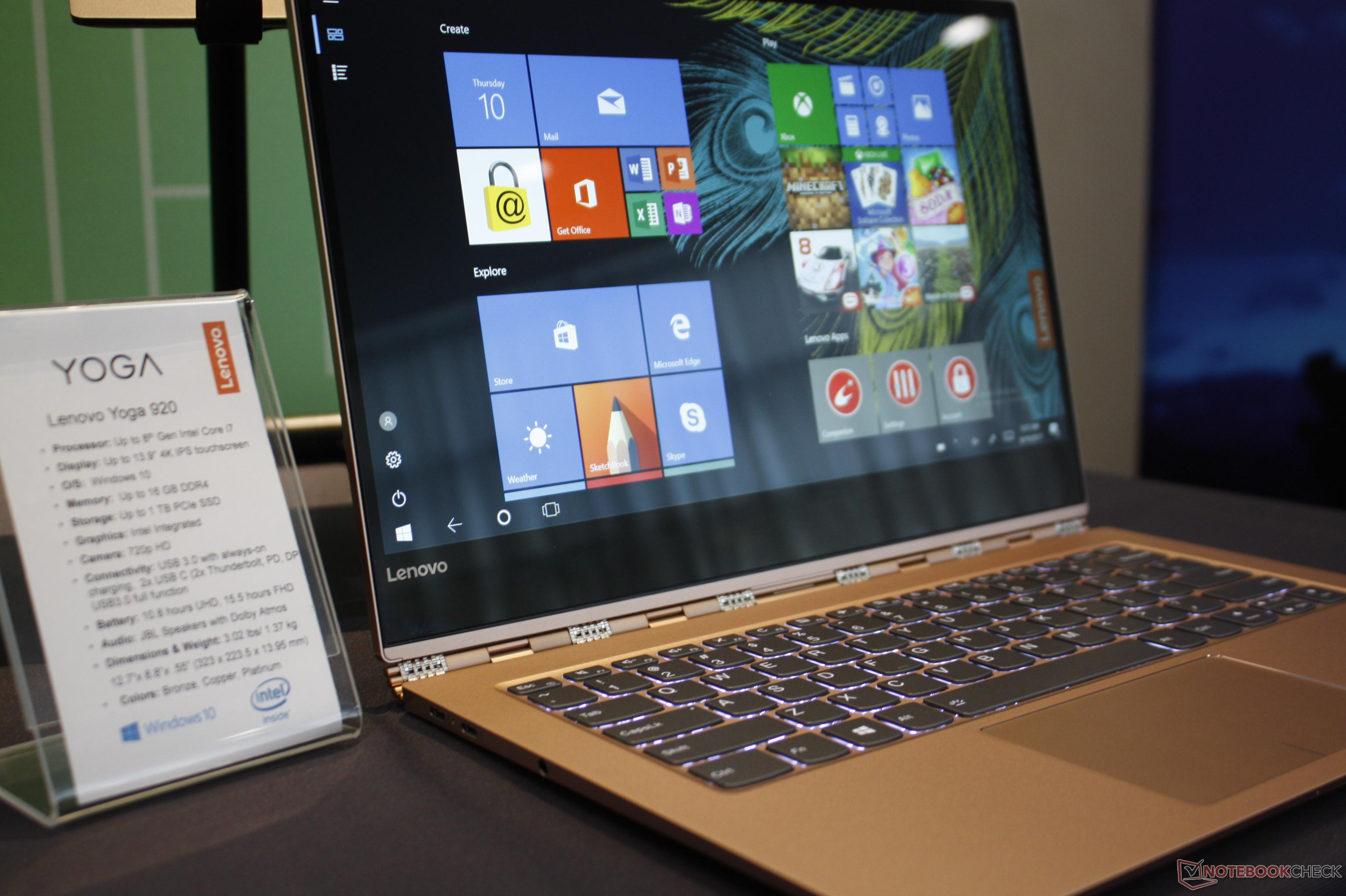 Lenovo launches redesigned Yoga 920 with Kaby Lake-R - NotebookCheck.net News