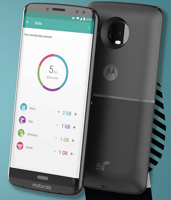 Moto Z3 with 5G module render (Source: Droid Life)