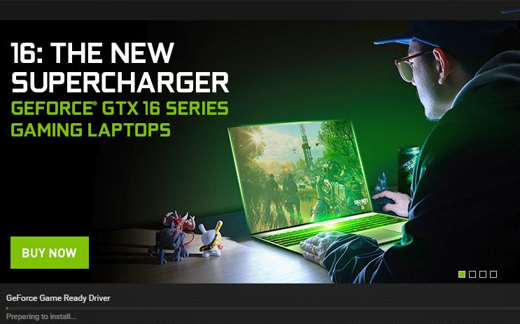 Nvidia geforce game driver update is available