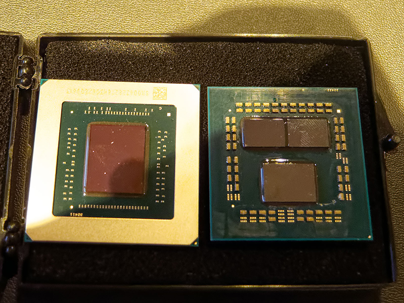 Here is a fresh up-close look at AMD's Navi GPU next to the
