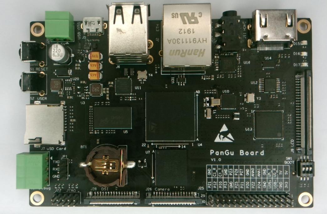 I2Som PanGu, an STM32MP1 powered Raspberry Pi Linux alternative that costs ~US$72.50