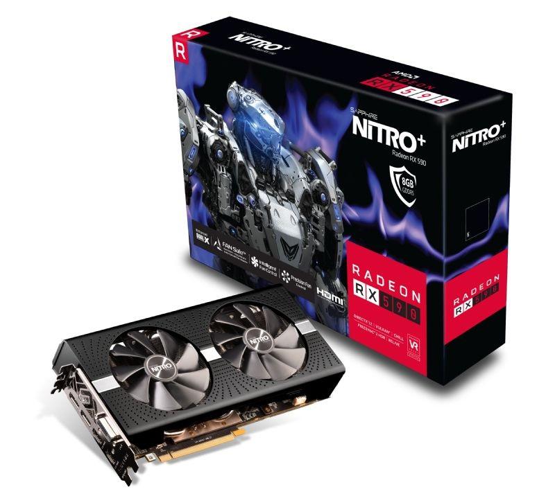 Black version of the Sapphire Nitro+ Radeon RX 590 spotted