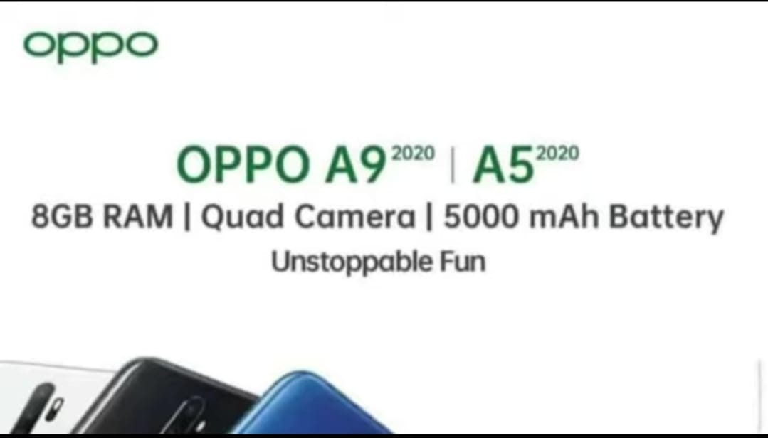The OPPO A5 (2020) looks like an OPPO A9 (2020) with less