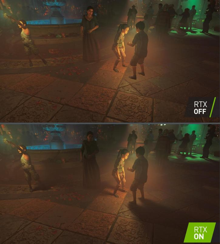 RTX is enabled in the bottom screenshot. (Source: Guru3D)
