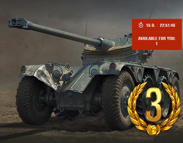 Wargaming is giving the premium EBR 75 FL 10 for free, but