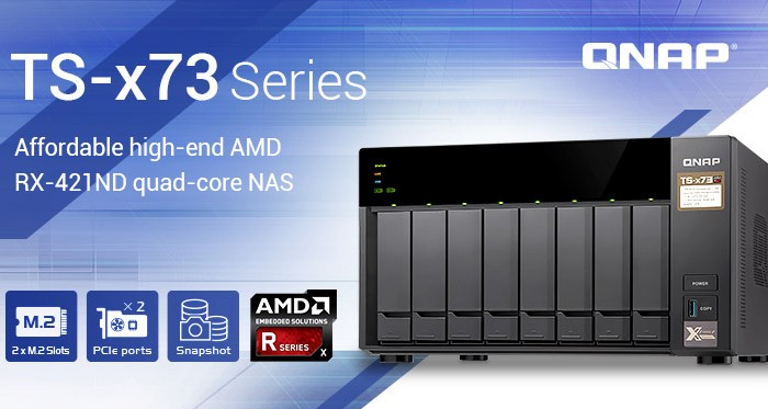 QNAP launches the AMD-powered TS-x73 NAS lineup