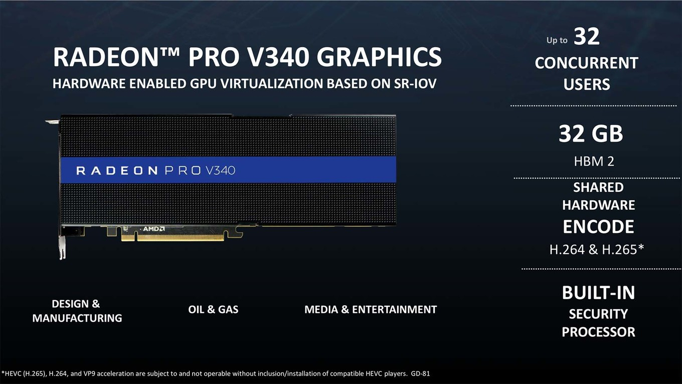 AMD Radeon PRO V340 spotted — dual Vega 10 multi-GPU with 32 GB HBM2