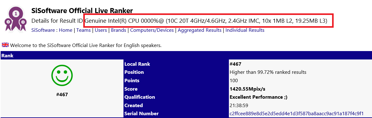 Intel Cascade Lake-X HEDT processor appears on SiSoftware's