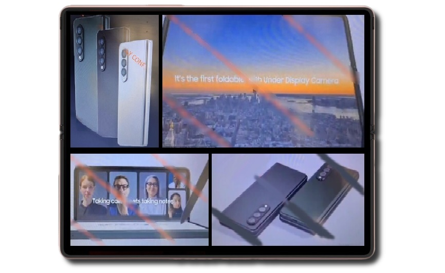 Samsung heralds the Galaxy Z Fold 3 as the first foldable phone with under display camera as leaked images reveal reserved design thumbnail