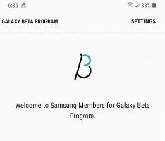 The welcome screen for the Samsung Members beta-testing program. (Source: XDA)