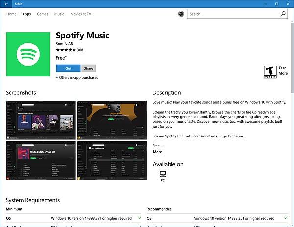 Spotify hits the Windows Store - NotebookCheck net News