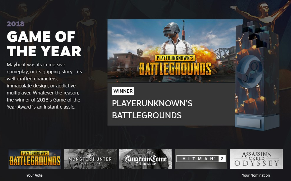 Image result for game of the year 2018 pubg