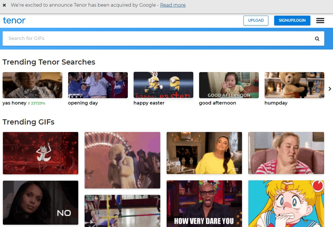 Here's why Google just snagged popular GIF platform Tenor