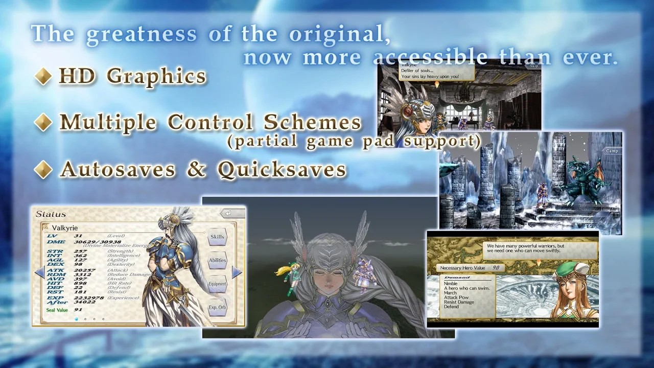 Valkyrie Profile: Lenneth now available for Android and iOS