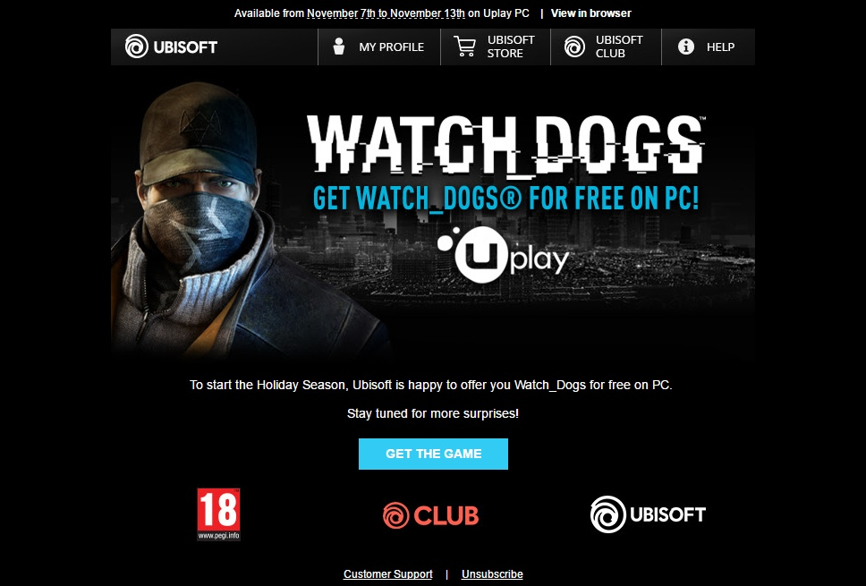 watch dogs play for free