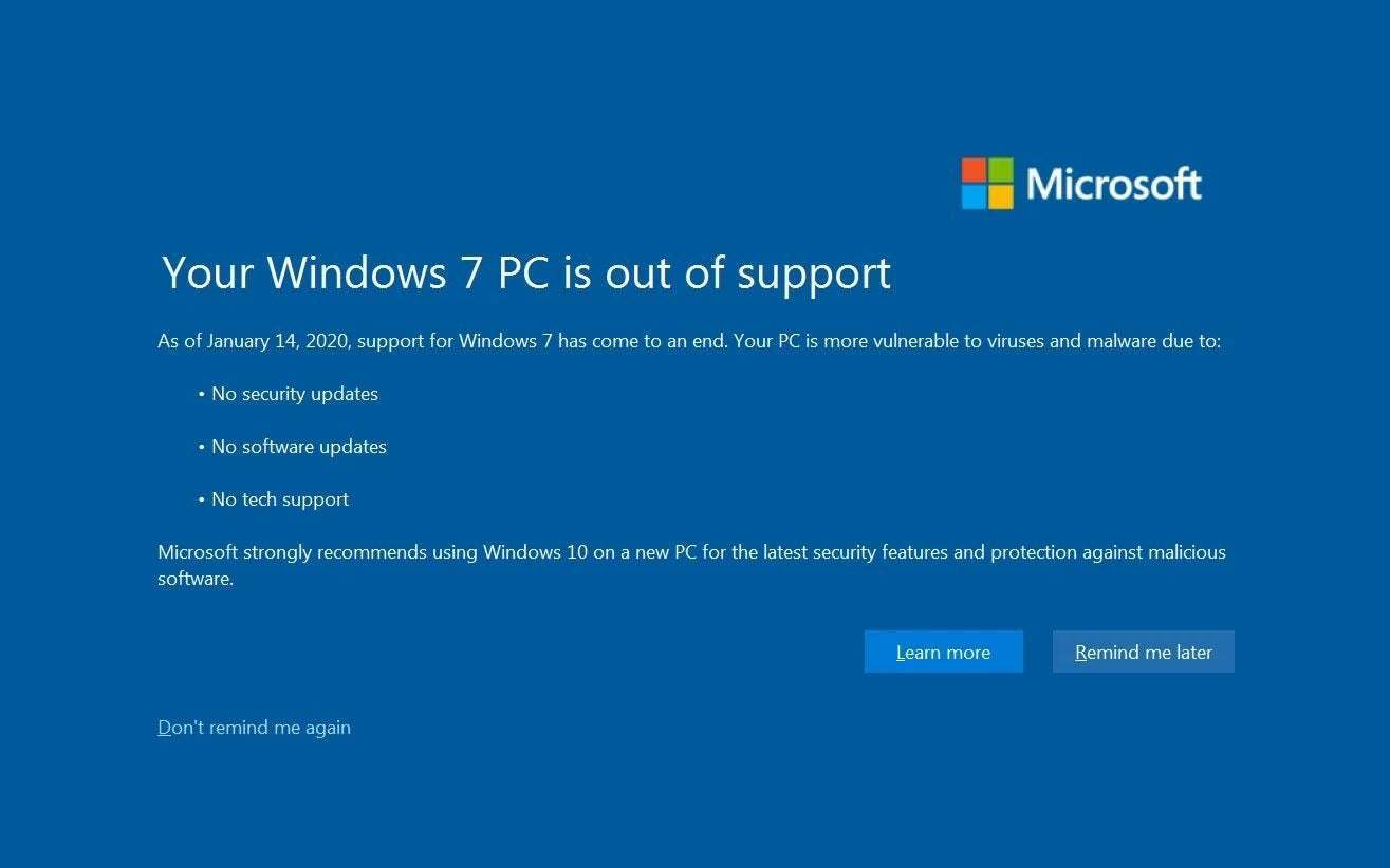 Why You Should Stop Using Windows 7 ASAP