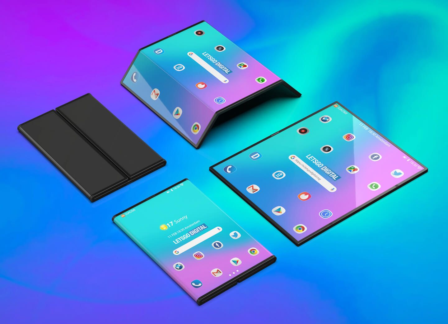 Expertly created renders of Xiaomi's foldable device are ...
