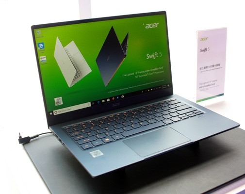 Acer updates Swift 5 ultrabook with Ice Lake CPUs and compact