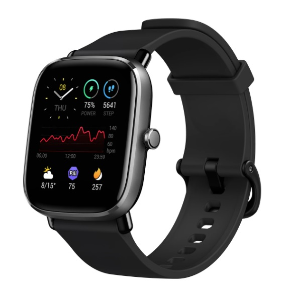 Amazfit GTS 2 Mini in black. (Image source: Amazfit)